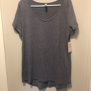 LulaRoe Heather blue classic Tee